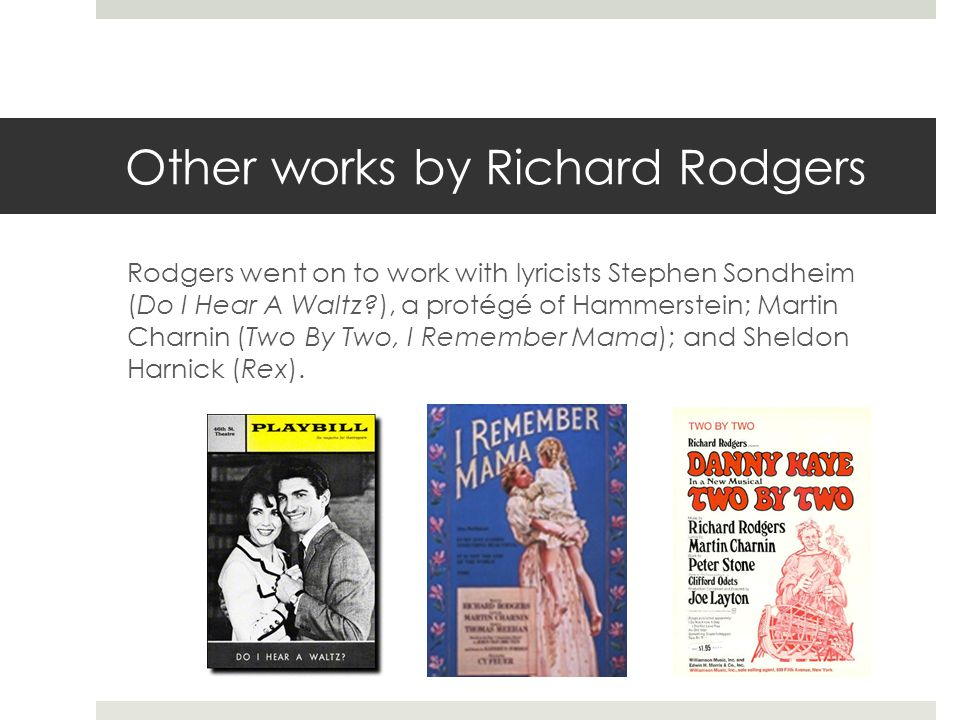 Other works by Richard Rodgers