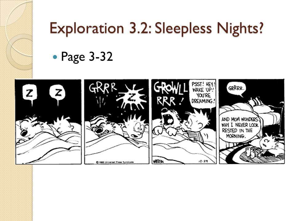 Exploration 3.2: Sleepless Nights