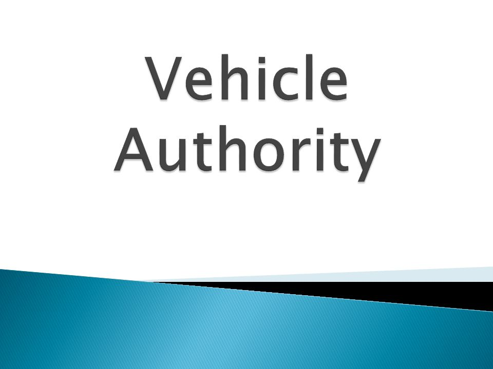 Vehicle Authority