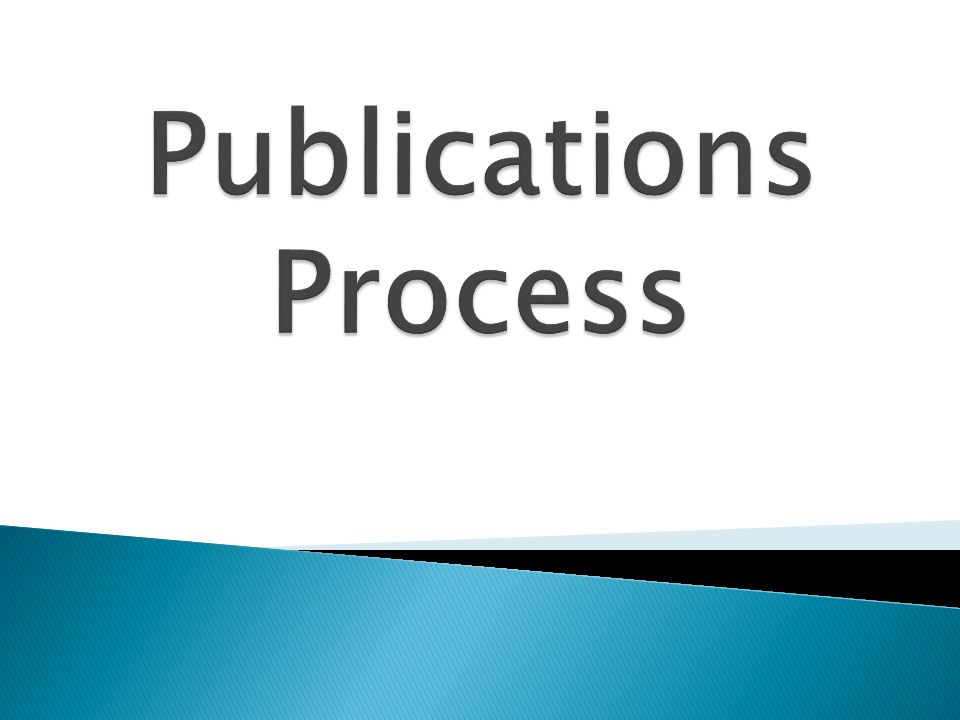 Publications Process