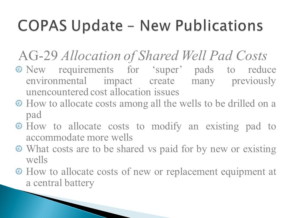 COPAS Update – New Publications
