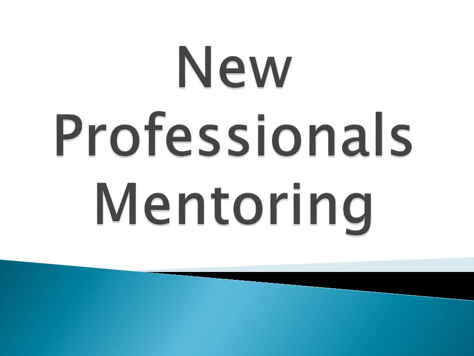 New Professionals Mentoring