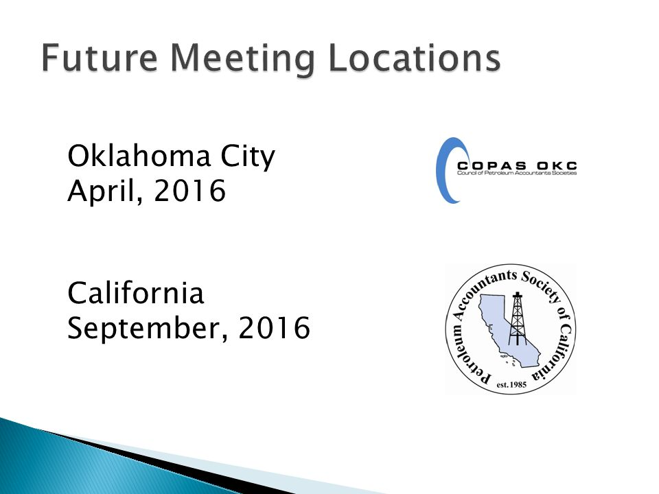 Future Meeting Locations
