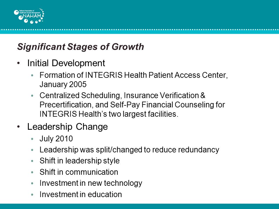 Significant Stages of Growth