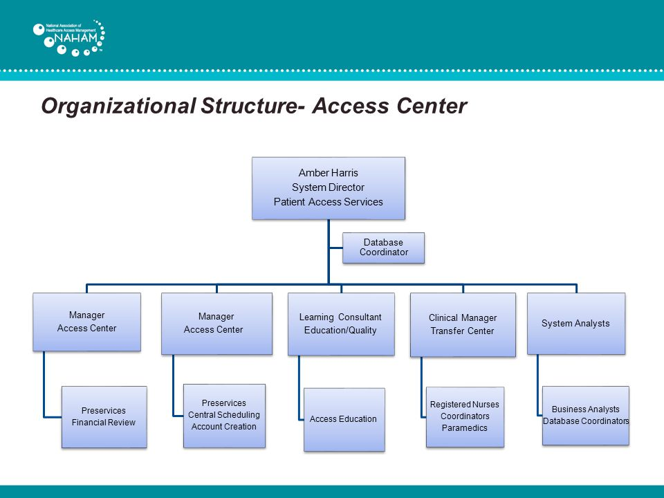 Organizational Structure- Access Center