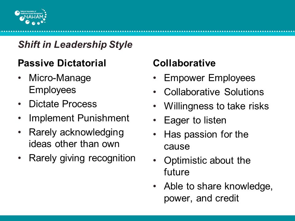 Shift in Leadership Style
