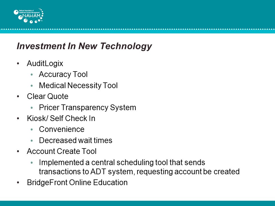 Investment In New Technology