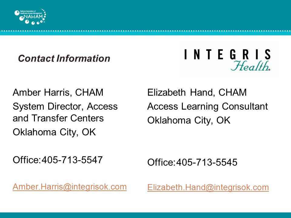 System Director, Access and Transfer Centers Oklahoma City, OK