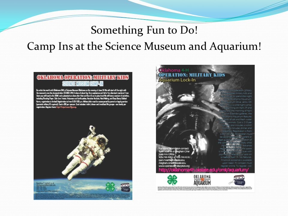 Something Fun to Do! Camp Ins at the Science Museum and Aquarium!