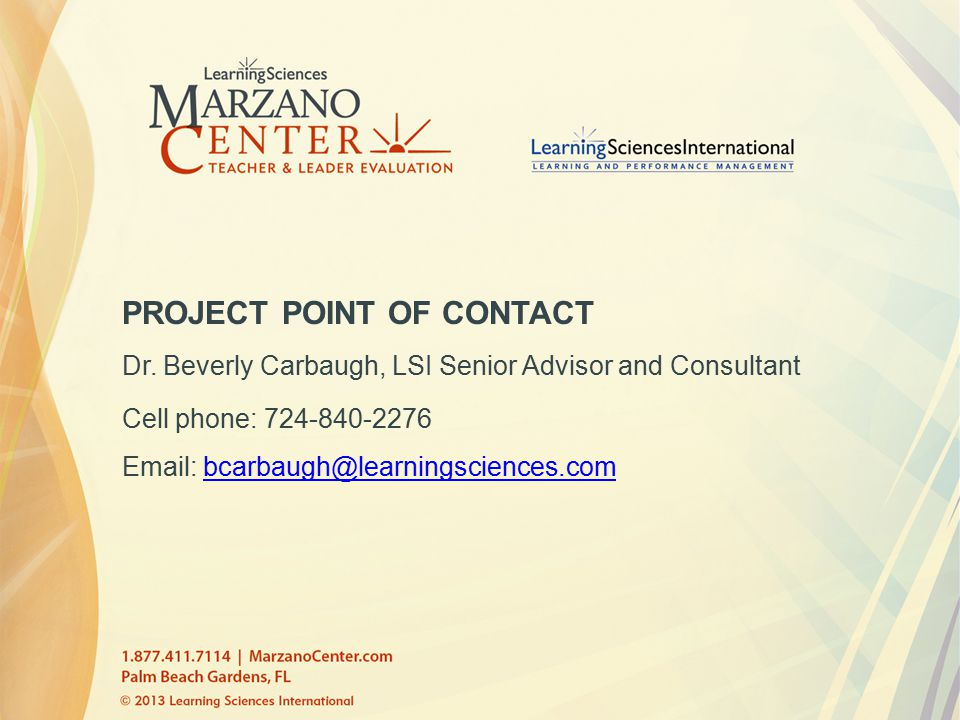 PROJECT POINT OF CONTACT Dr