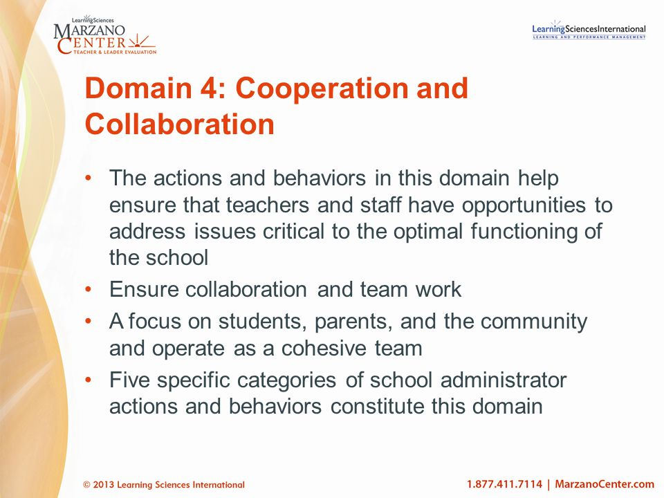 Domain 4: Cooperation and Collaboration