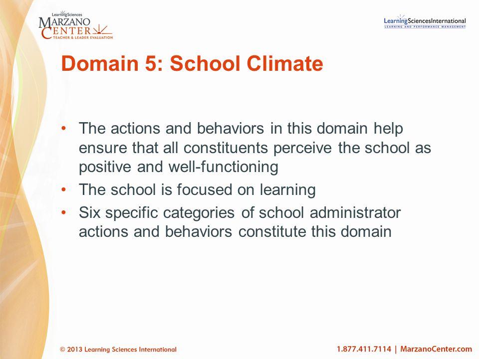 Domain 5: School Climate