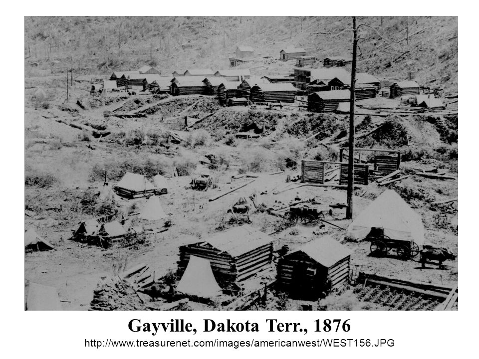 Gayville, Dakota Terr. , 1876 http://www. treasurenet