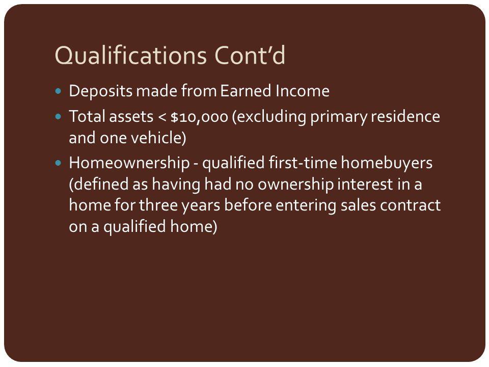Qualifications Cont'd