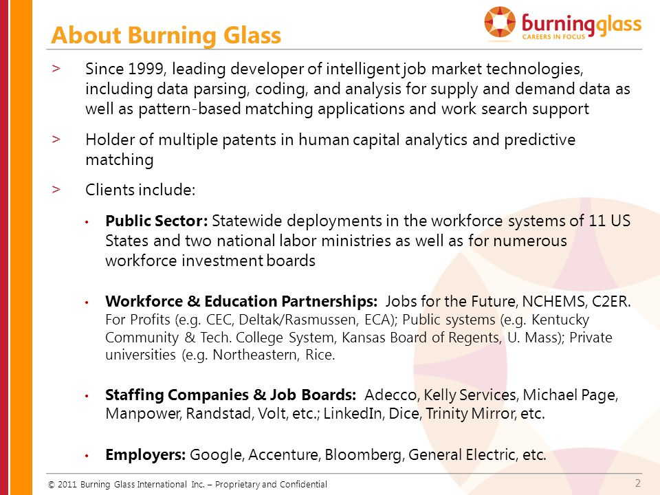 About Burning Glass