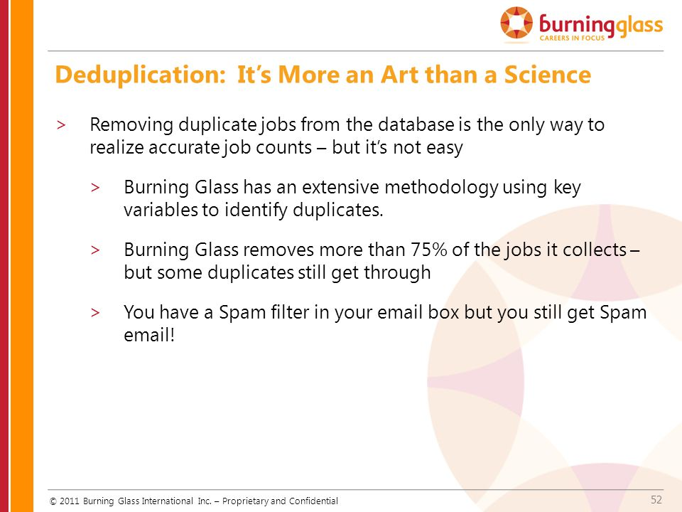 Deduplication: It's More an Art than a Science