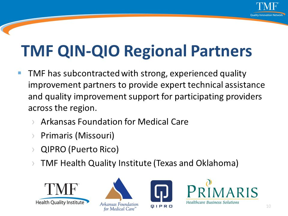 TMF QIN-QIO Regional Partners