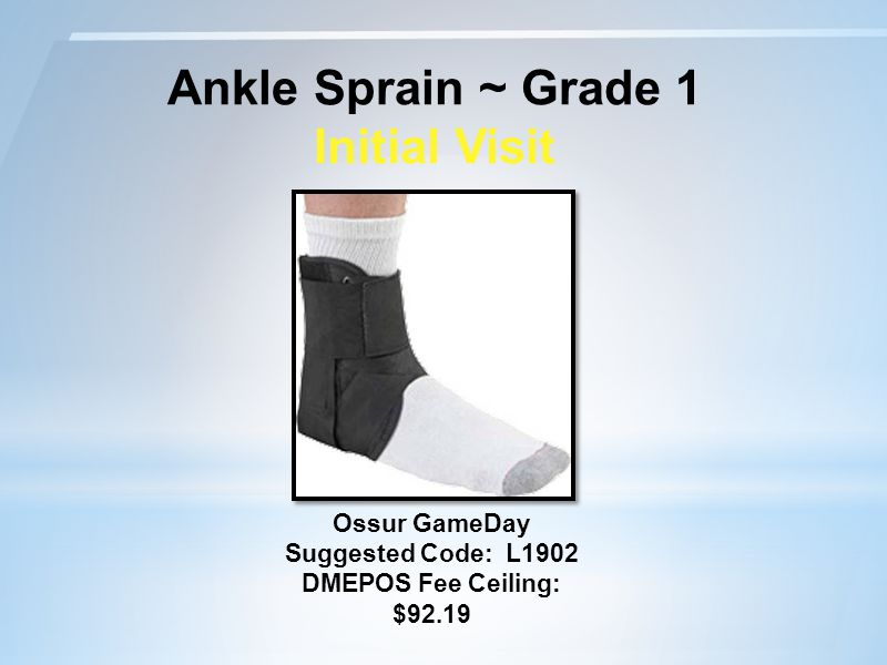 Ankle Sprain ~ Grade 1 Initial Visit