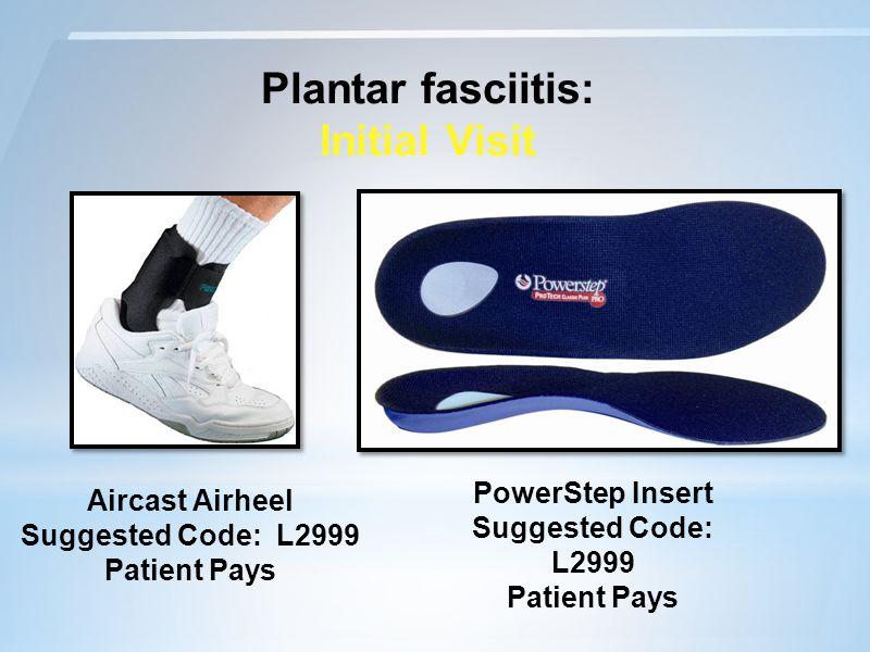 Plantar fasciitis: Initial Visit