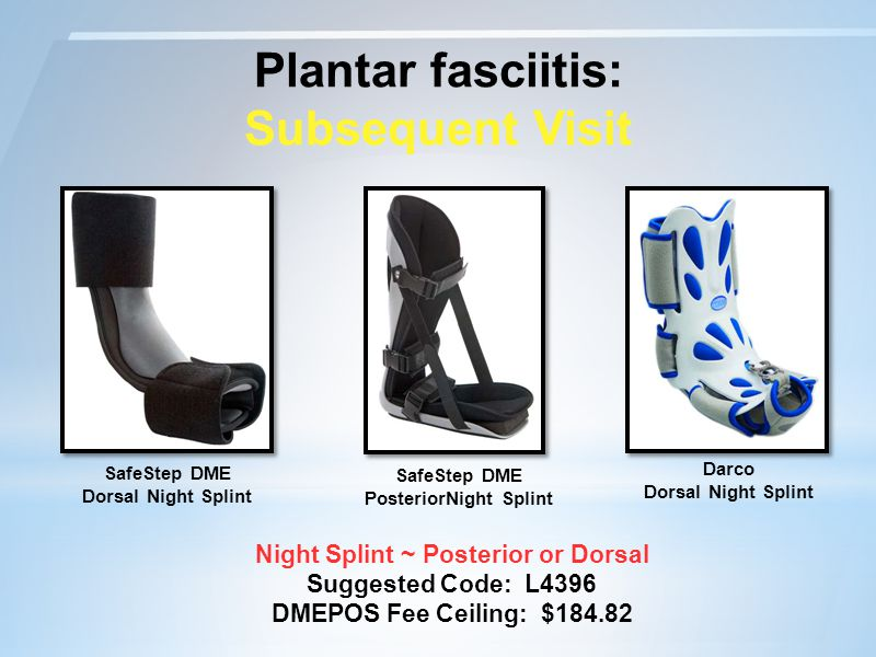 SafeStep DME PosteriorNight Splint Night Splint ~ Posterior or Dorsal
