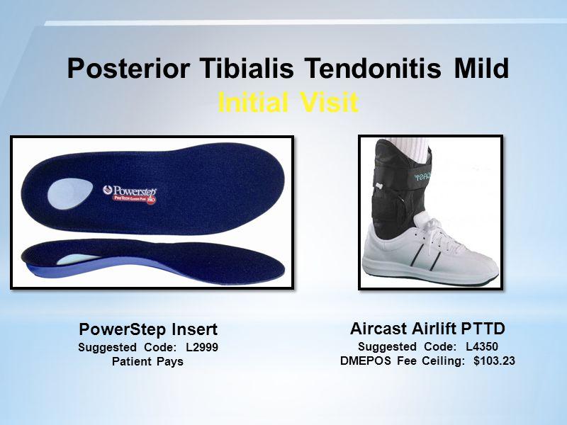 Posterior Tibialis Tendonitis Mild Initial Visit