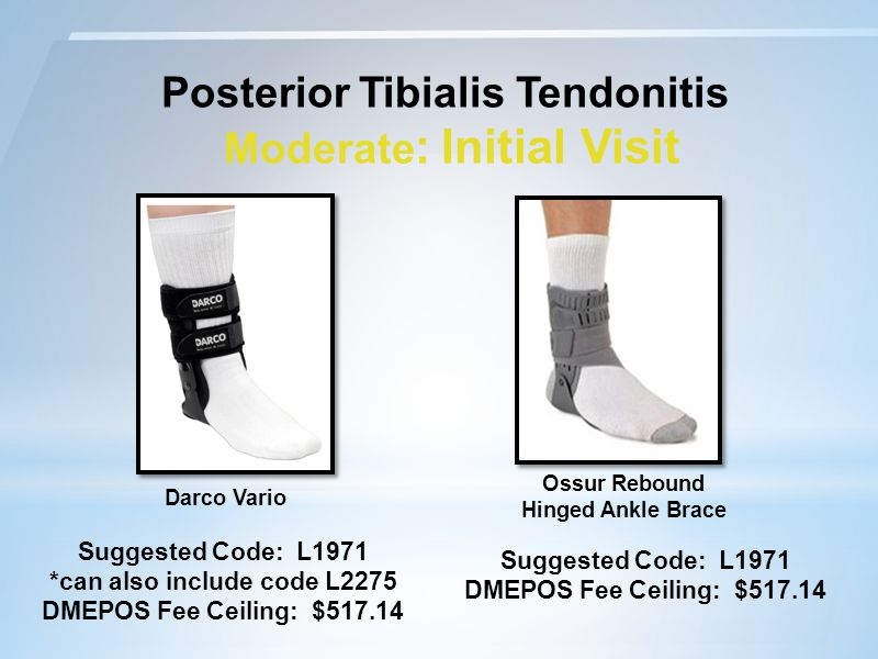 Posterior Tibialis Tendonitis Moderate: Initial Visit