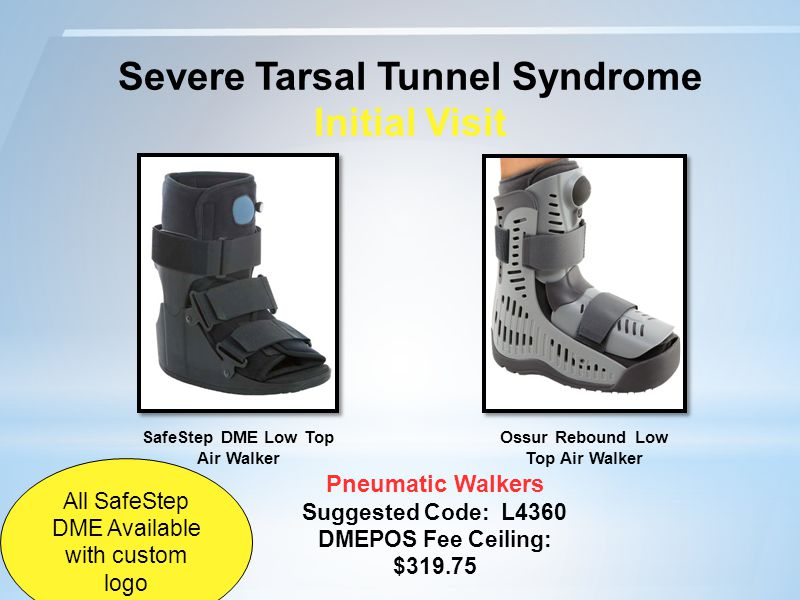 Severe Tarsal Tunnel Syndrome Initial Visit