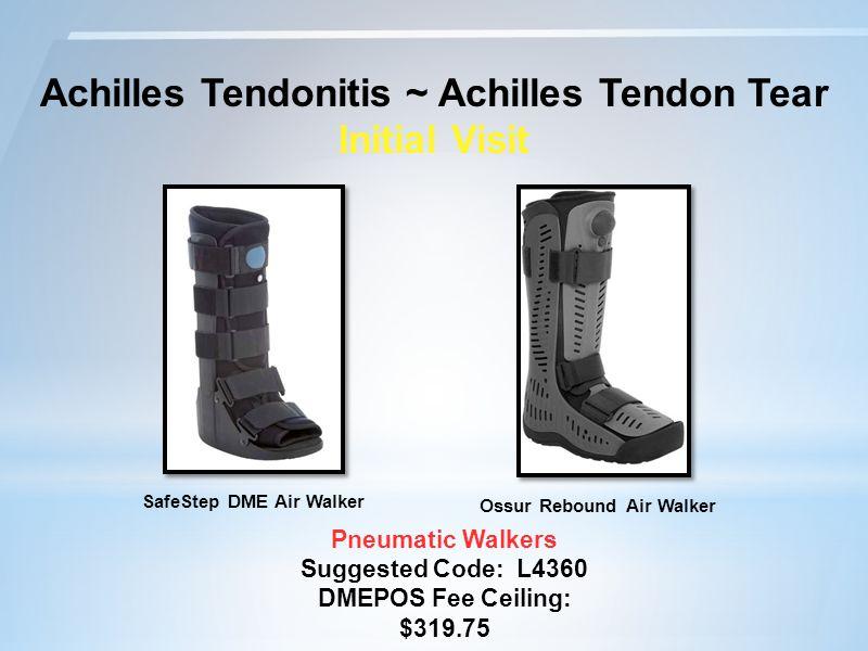 Achilles Tendonitis ~ Achilles Tendon Tear Initial Visit