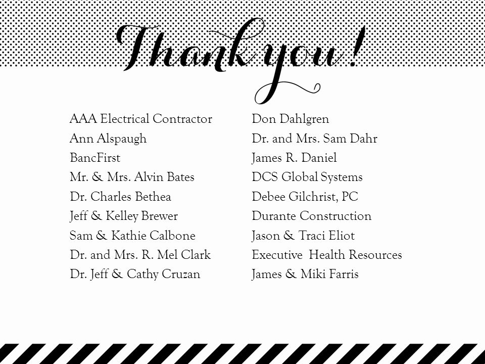AAA Electrical Contractor Ann Alspaugh BancFirst Mr. & Mrs