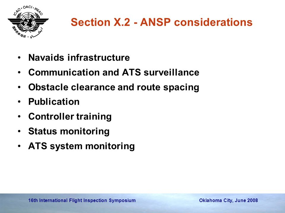 Section X.2 - ANSP considerations