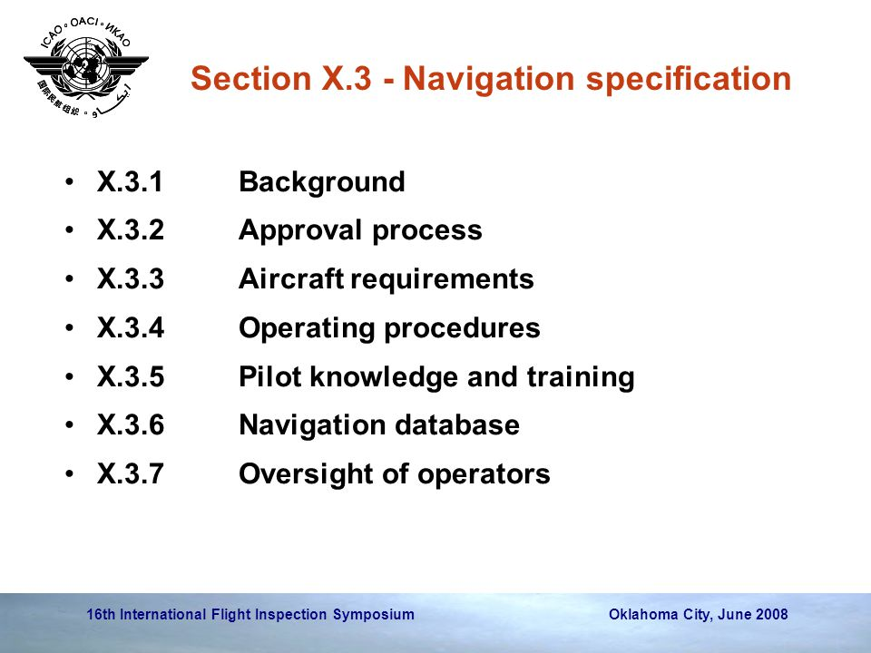Section X.3 - Navigation specification