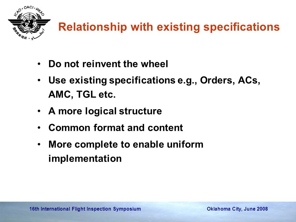 Relationship with existing specifications