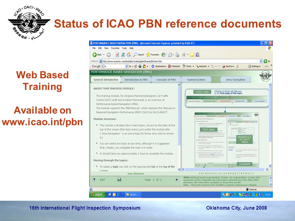 Web Based Training Available on www.icao.int/pbn