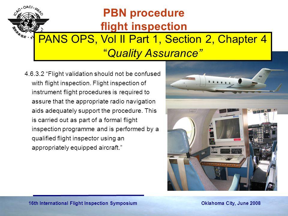 PBN procedure flight inspection
