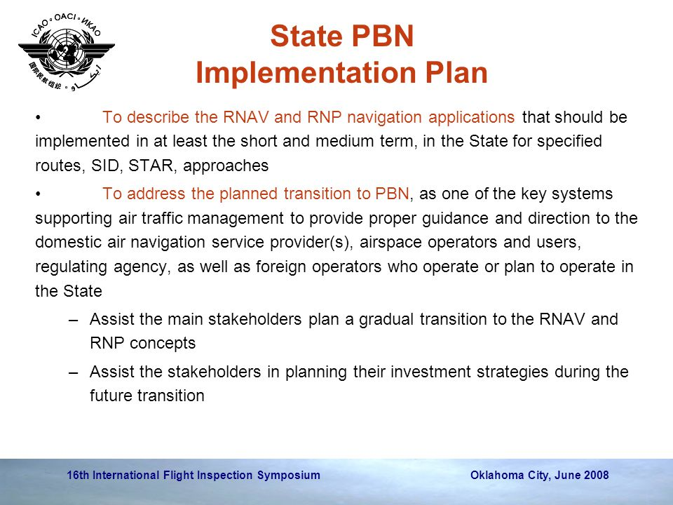 State PBN Implementation Plan