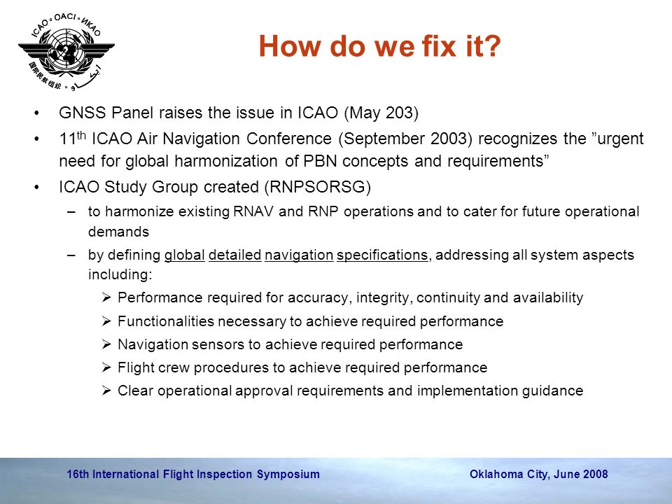 How do we fix it GNSS Panel raises the issue in ICAO (May 203)