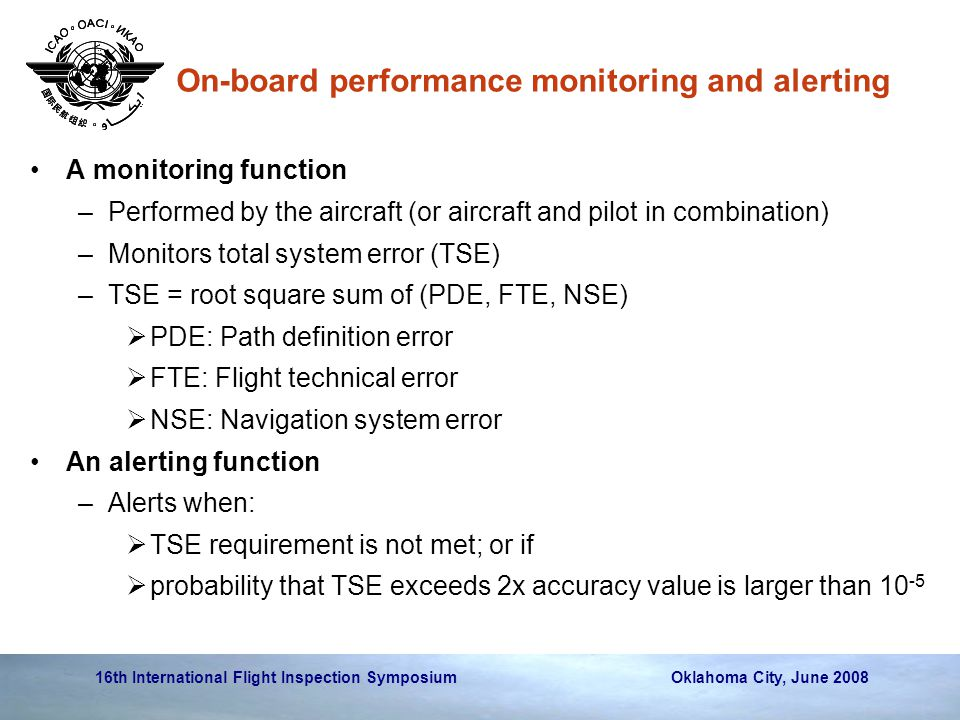 On-board performance monitoring and alerting