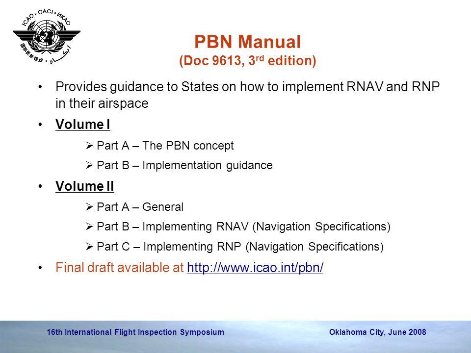 PBN Manual (Doc 9613, 3rd edition)
