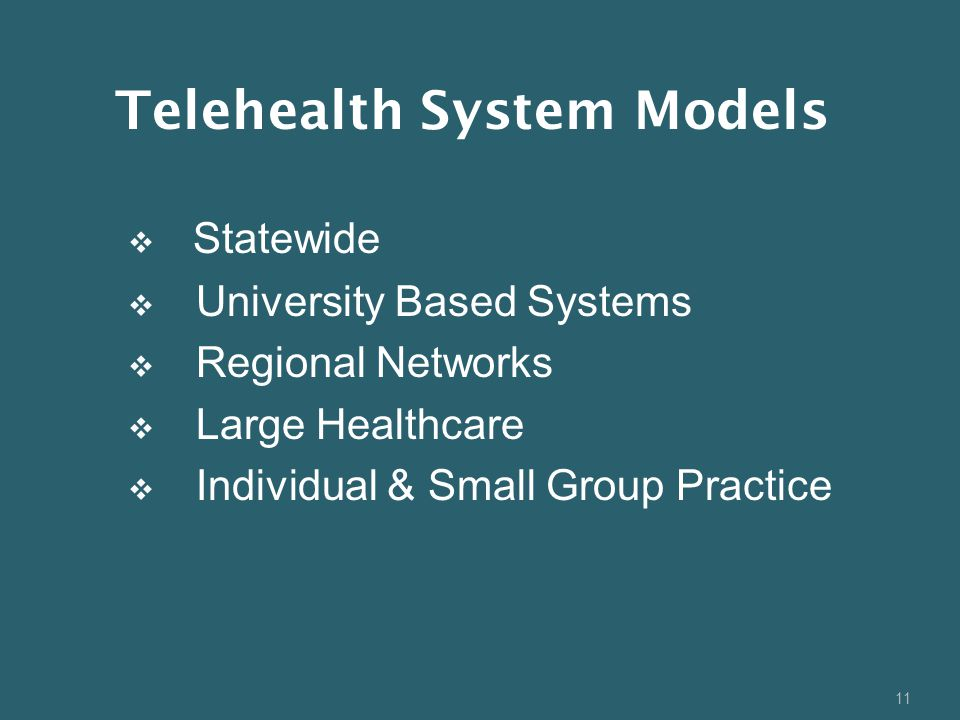 Telehealth System Models