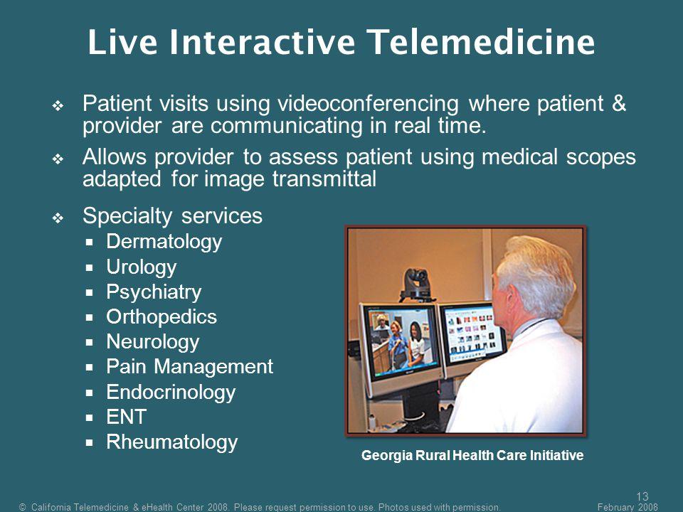Live Interactive Telemedicine Georgia Rural Health Care Initiative