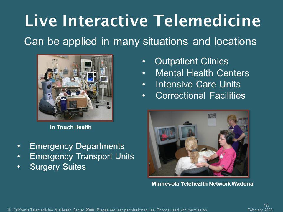 Live Interactive Telemedicine