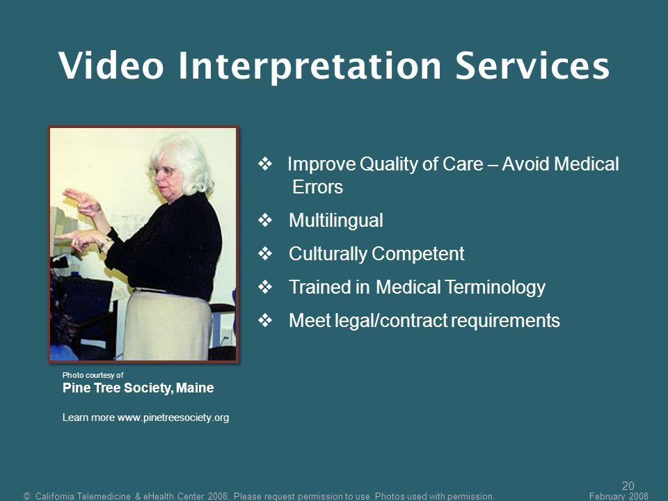 Video Interpretation Services