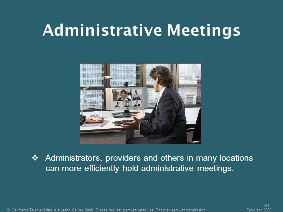 Administrative Meetings