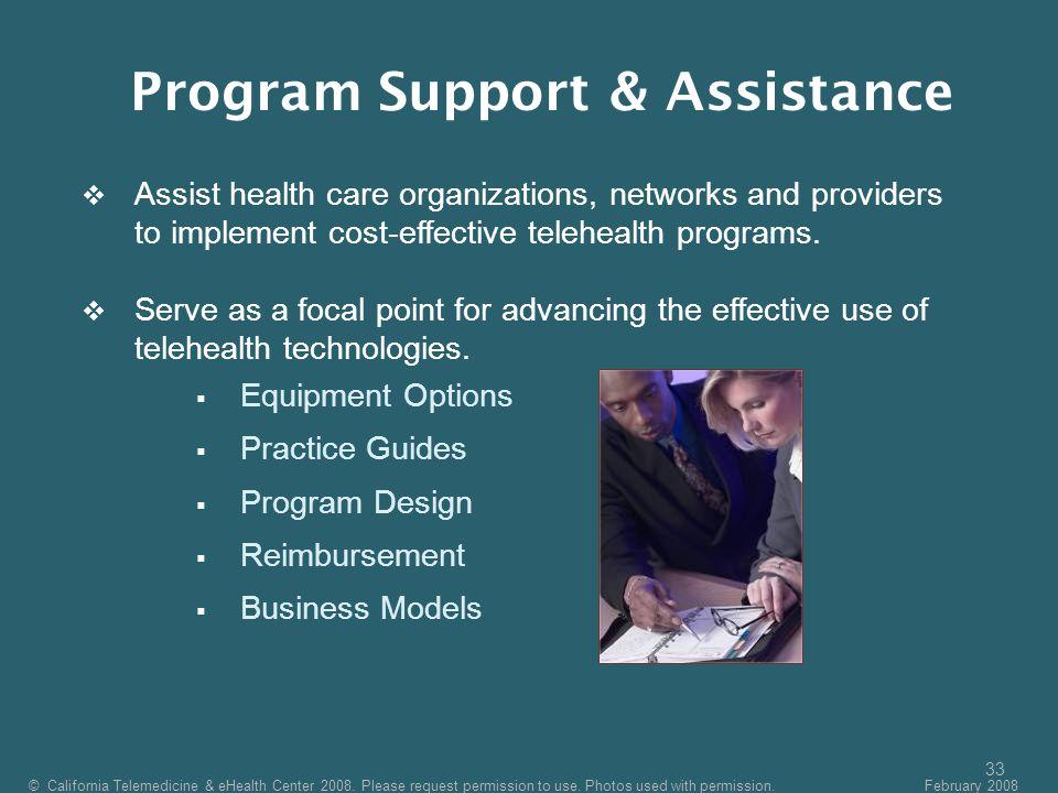 Program Support & Assistance