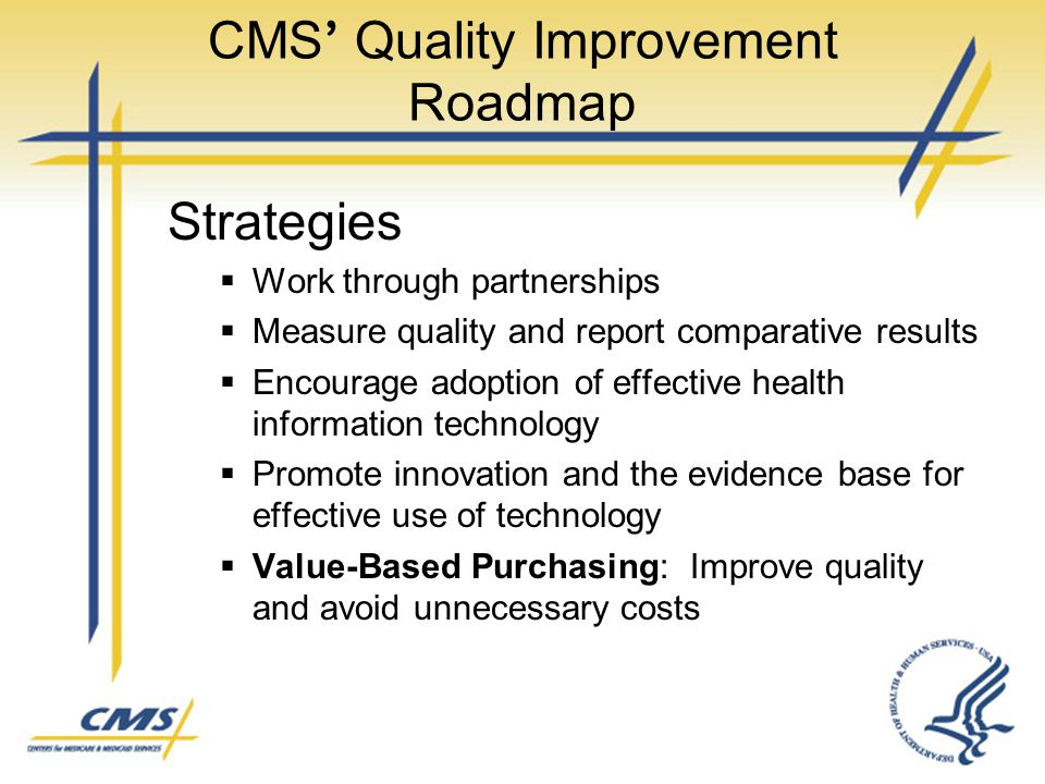 CMS' Quality Improvement Roadmap