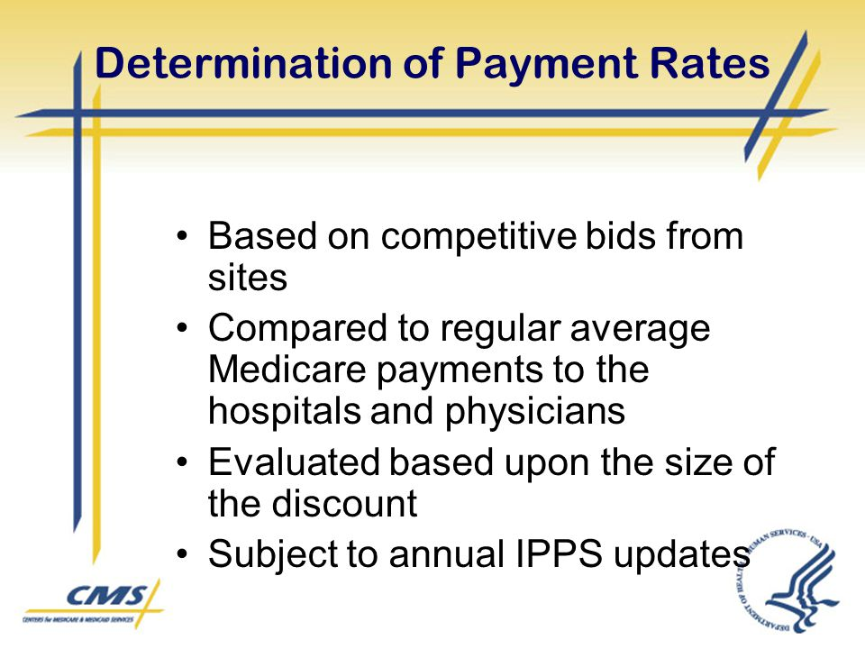 Determination of Payment Rates