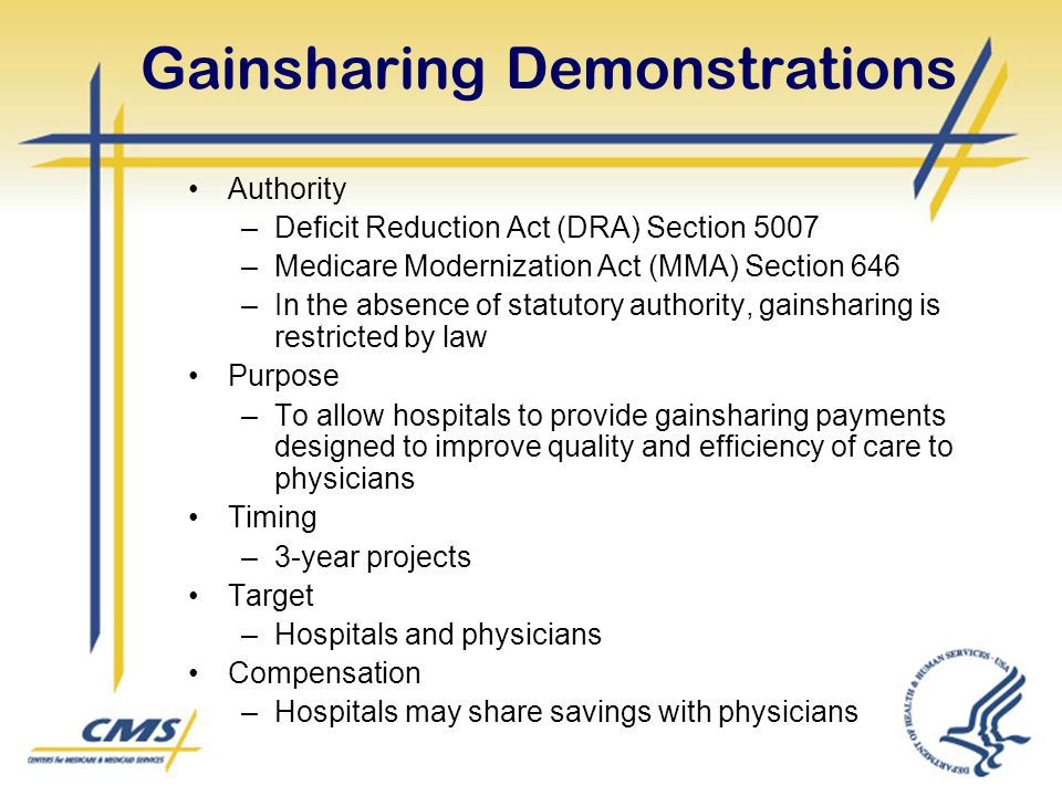 Gainsharing Demonstrations