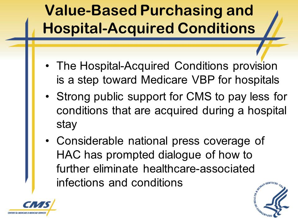 Value-Based Purchasing and Hospital-Acquired Conditions