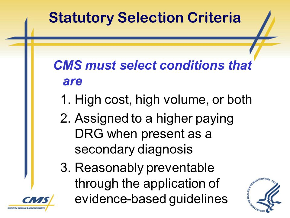 Statutory Selection Criteria