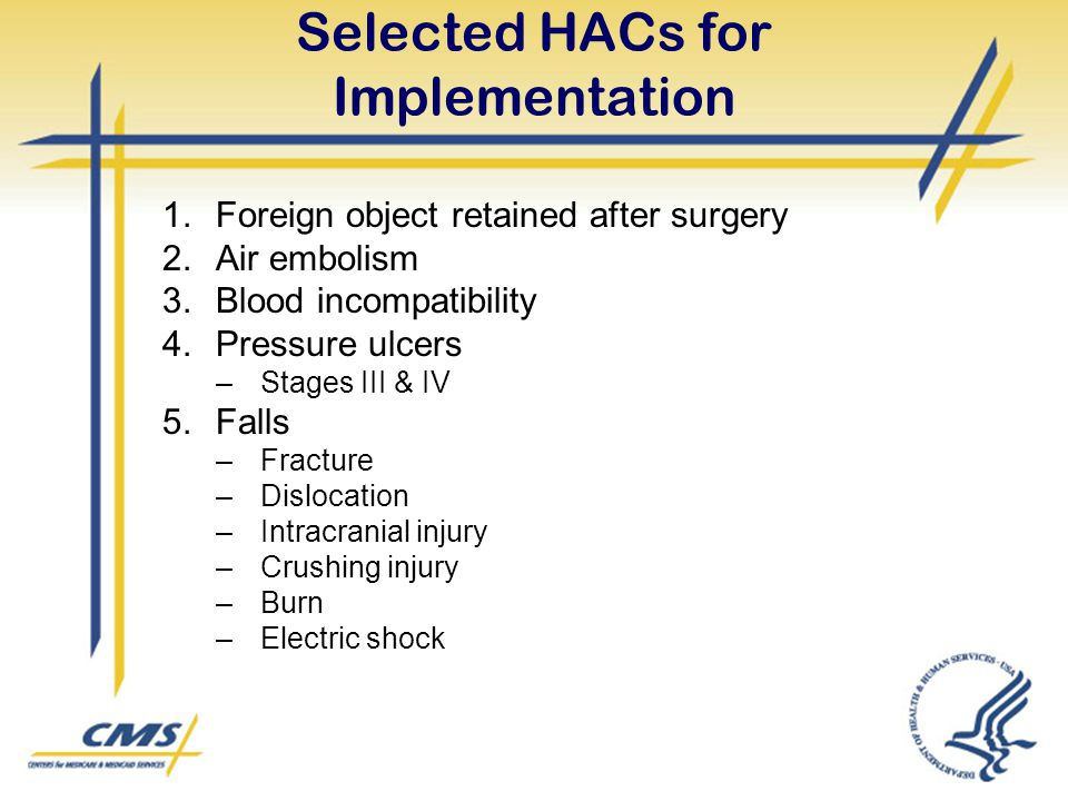 Selected HACs for Implementation